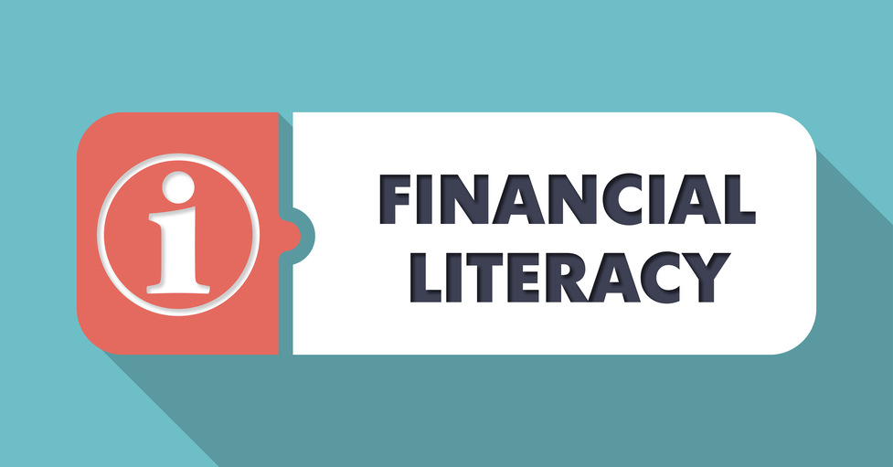 Financial Literacy Concept in Flat Design.
